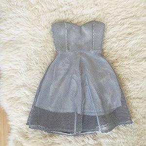 Strapless Skater Mini Dress